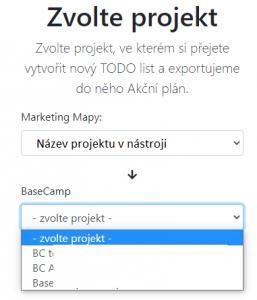 Zvolit projekt
